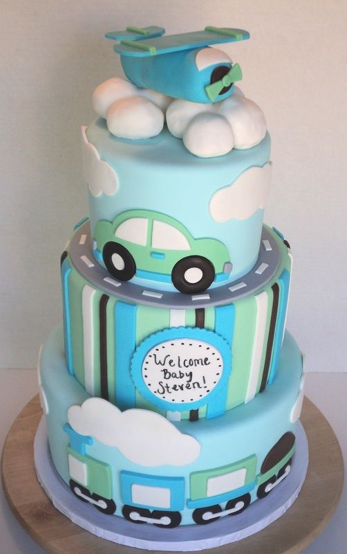 baby boy cake. but WELCOME ALESSANDRO
