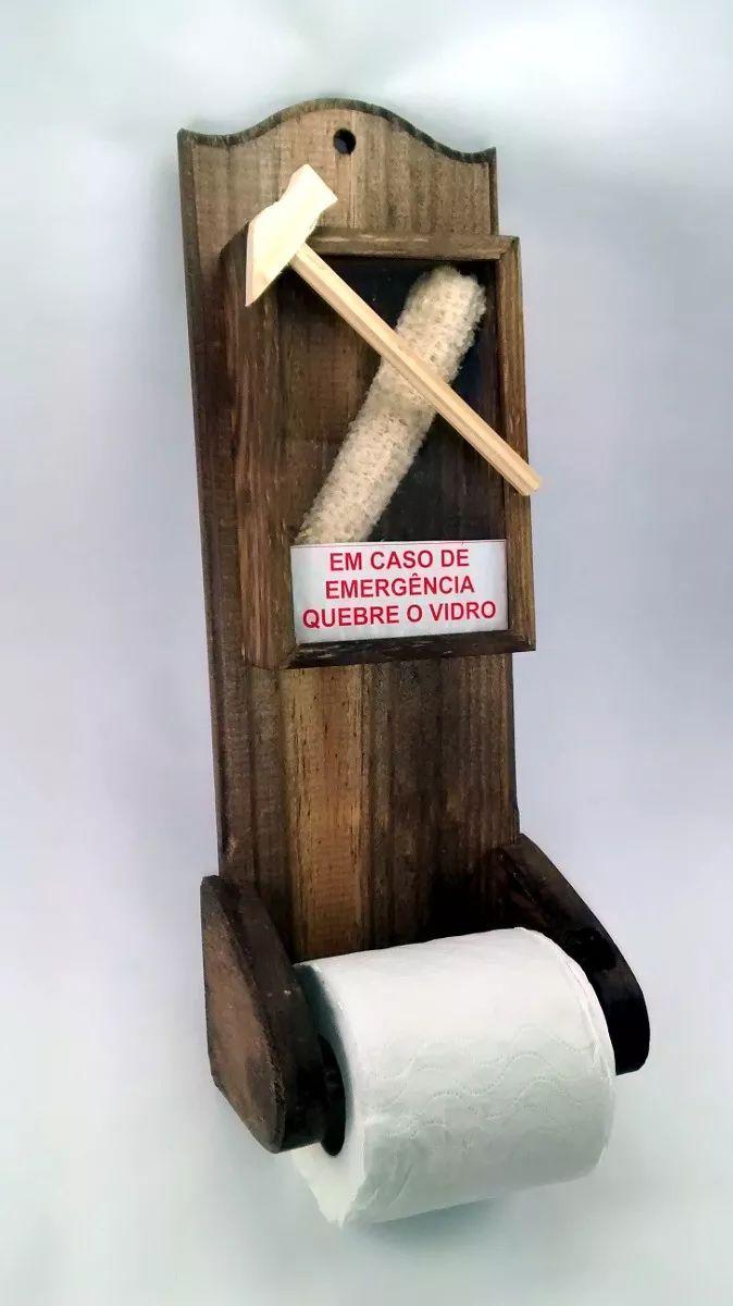 suporte papel higiênico caso emergência quebre vidro