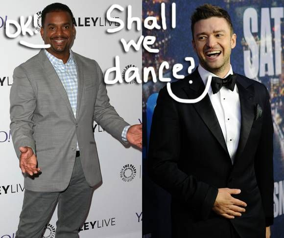 Justin Timberlake Gets Alfonso Ribeiro To Do The 'Carlton Dance' At A Celebrity Golf Tournament! Watch Here!