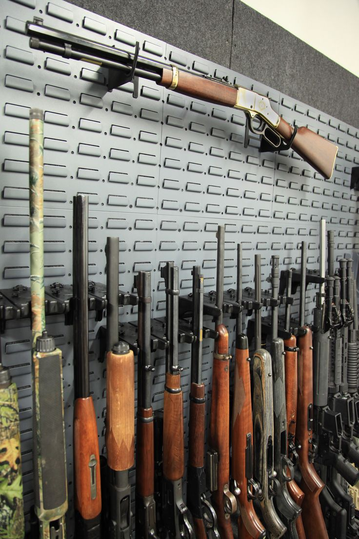 there gun wall kits are designed to go above cabinets onto shelving or from the ground up