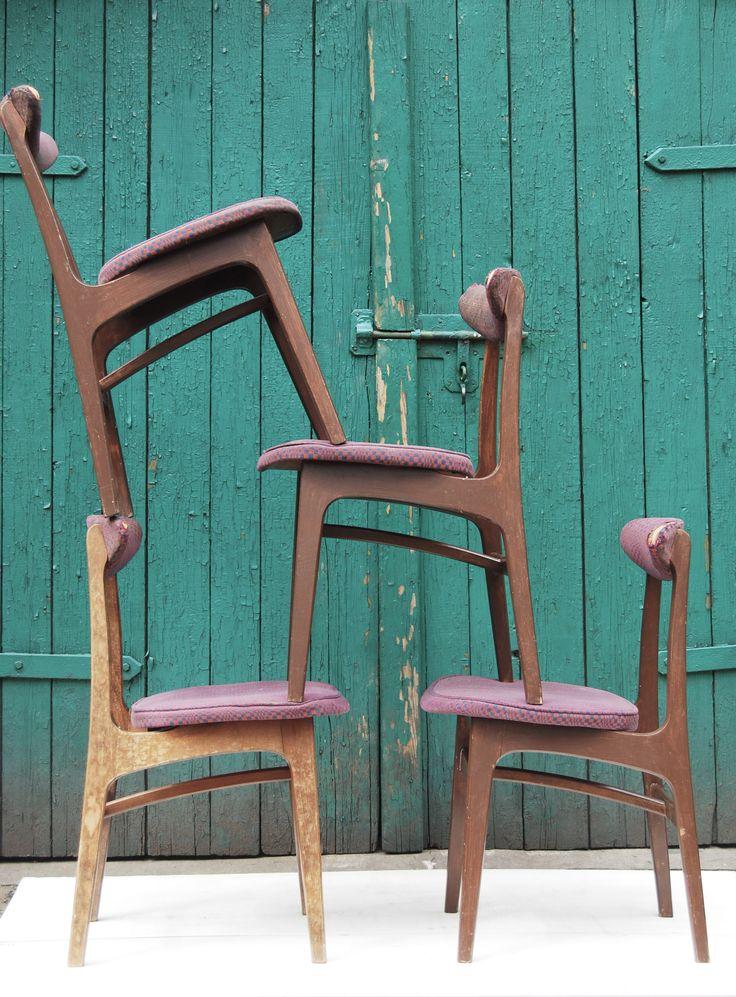 Krzesło typ 200-190 ''B'', lata 60/70. Proj. Rajmund Hałas.
