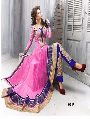 Amazing Heavy Designer Pink Embroidery Anarkali Suit By Thankar Anarkali Suits