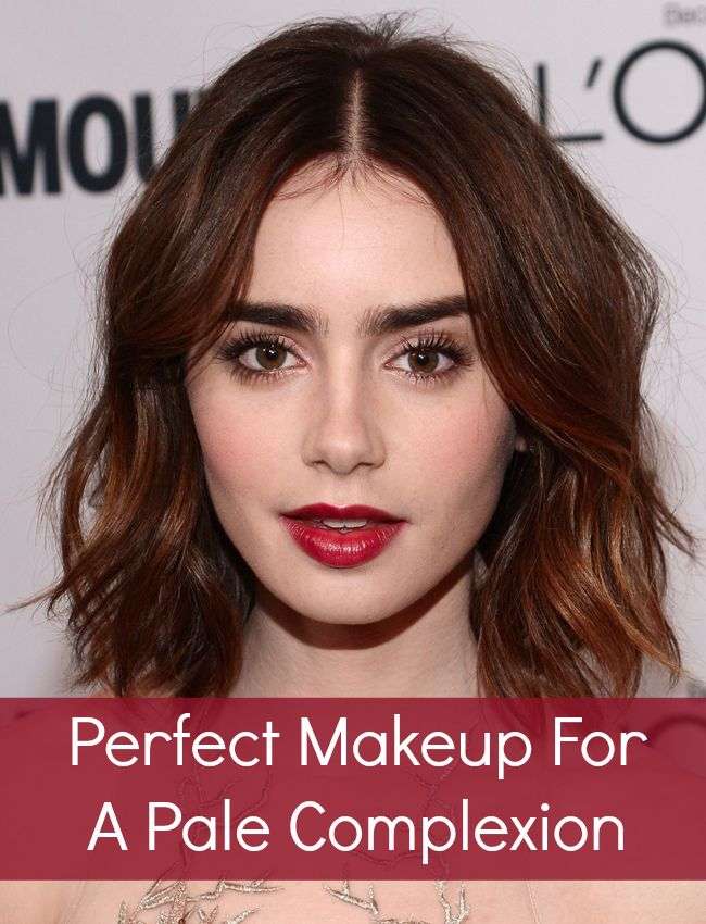 Lily Collins models the perfect makeup for a pale complexion