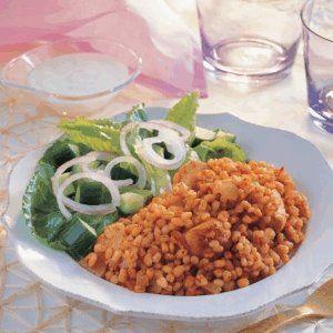 Burghul with Chicken and Tomato Recipe