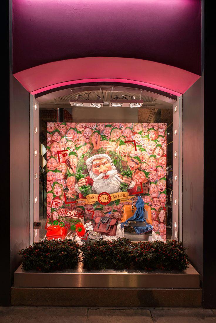 Ted Baker Christmas Windows, 2014 | #TedsElfie, Floral Street Store, London by Millington Associates