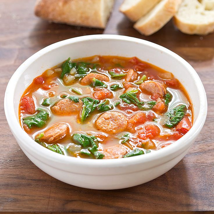 Rustic Chorizo, Tomato, and Spinach Soup - Cook's Country