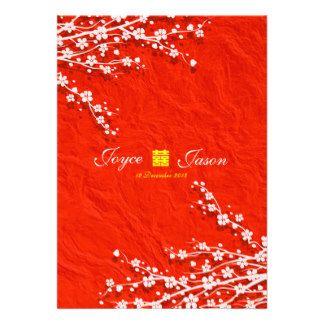 Orientalische Hochzeit Kirschblütes rote