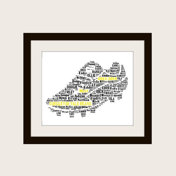 Personalised Football Boot Print A4 Unframed Print