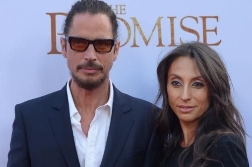 Brad Pitt, Christian Bale, Pharrell, Courtney Love, Dave Grohl, Billy Idol and James Franco attended a memorial service for Chris Cornell…