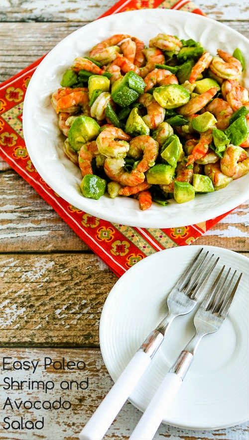 Easy Paleo Shrimp and Avocado Salad (Low-Carb, Gluten-Free) [from KalynsKitchen.com]