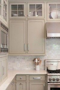 Kitchen Cabinet Paint Color. Neutral Kitchen Cabinets. Neutral Painted Cabinets…