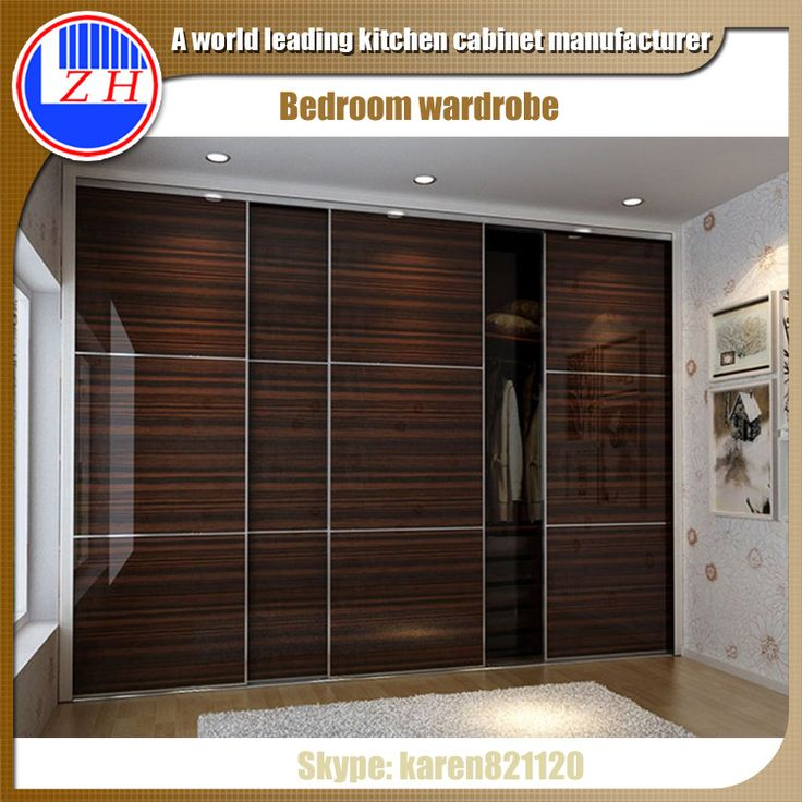 wall wardrobe designs | Wall closet systems clothes wardrobe cabinet design with sliding door ...