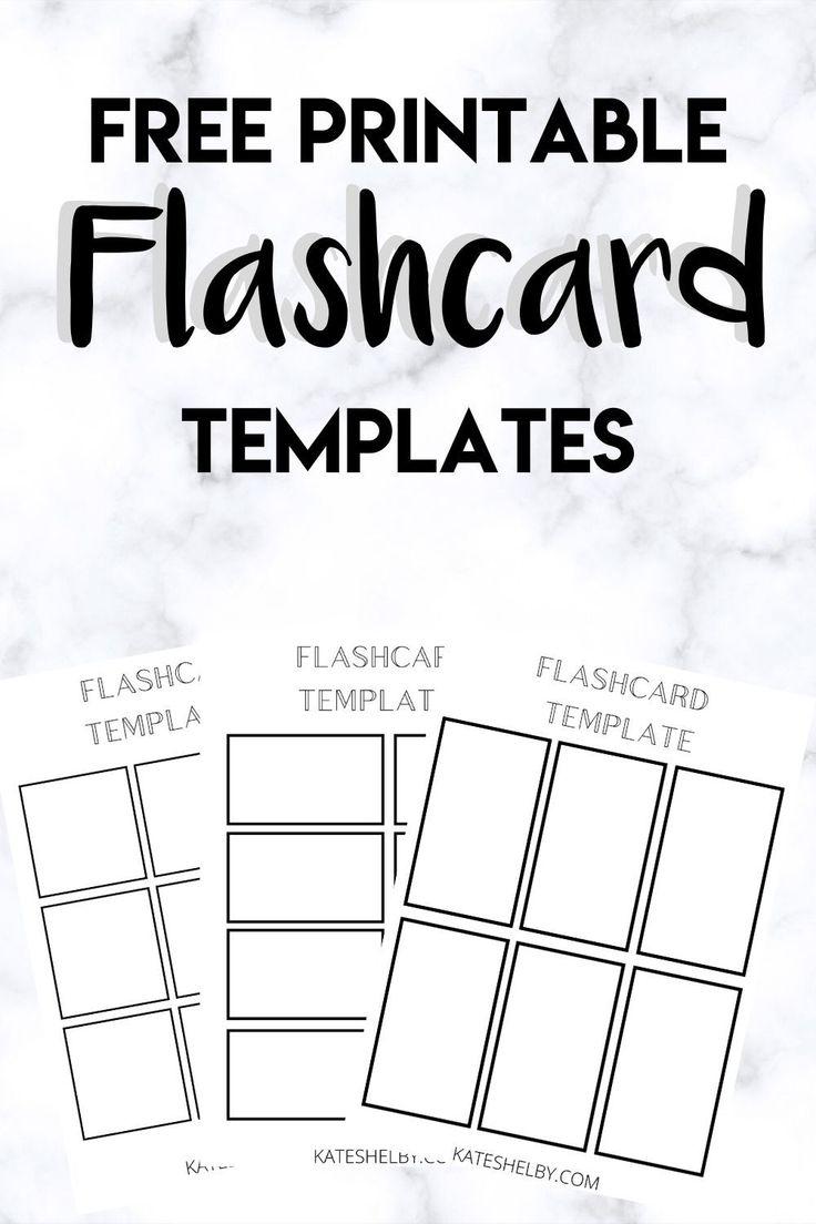 Printable Flashcard Template Kate Shelby Flashcards Sight Word Flashcards Printable Flash Cards