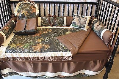 5 pc real tree Camo   Baby bedding set  Free personalized pillow