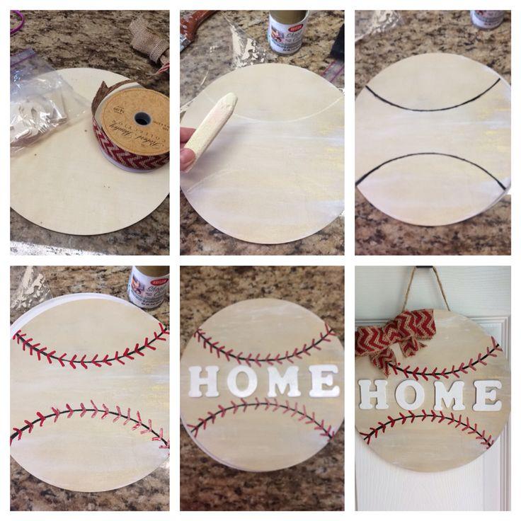 """Baseball """"Home"""" door hanger"""
