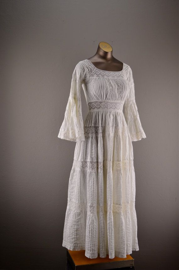 1970s summer dress vintage maxi dress mexican wedding