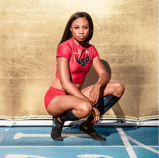 Allyson Felix | 20 Hottest Female Athletes In The Olympics Wearing Their Makeup On-Point