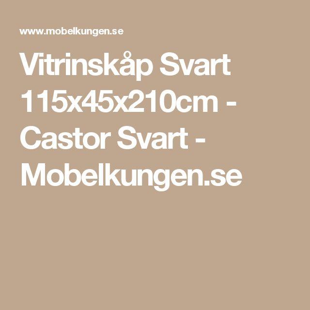Vitrinskåp Svart 115x45x210cm - Castor Svart - Mobelkungen.se