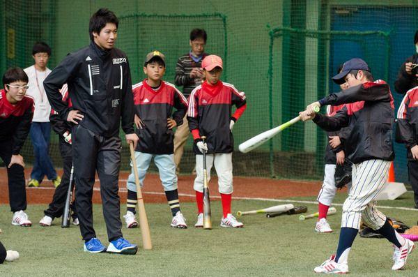 ヤクルト・山田、楽天・則本らがアディダス発表会と野球教室 13枚目