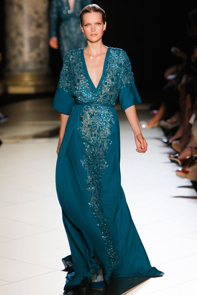 Elie Saab 2012-2013...teal loose with sequins looks so lovely and bohemian elegant.