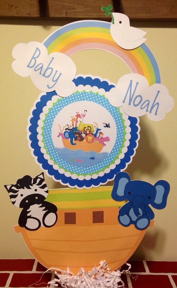 baby shower banners noah ark two by two boy baby showers noahs ark