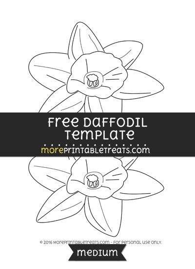 free daffodil template medium shapes and templates printables