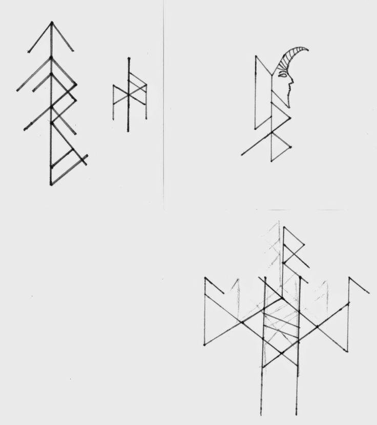 Komplexrunen: Sind aus in Runenschrift geschriebenen Wörtern (Hier: Namen) hergestellte Zeichen, deren Herstellung ähnlich der, in der westlichen Magie bekannten, Sigillentechnik erfolgt. Zum Artikel: http://nebel-all-raunen.blogspot.de/2014/06/komplexrunen.html
