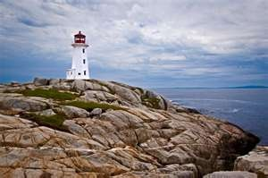 Peggy's Cove Lighthouse - the most well known and most photographed lighthouse in canada