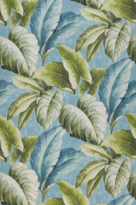 kr218.09 Price per roll (per m2 kr40.92), Floral wallpaper, Carrier material: Non-woven wallpaper, Surface: Fine structure, Vinyl, Look: Matt, Design: Leaves, Basic colour: Pastel blue, Pattern colour: Blue white, Fern green, Green white, Ocean blue, Characteristics: Good lightfastness, Scrub-resistant, Low flammability, Strippable, Paste the wall
