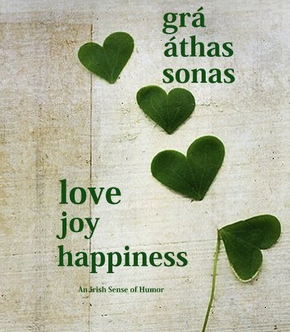 This would make a great tattoo, but with shamrocks instead of hearts!