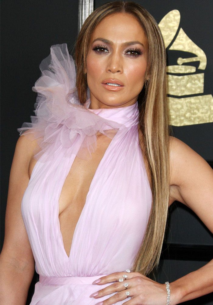 Jennifer Lopez at the 59th annual Grammy Awards held in Los Angeles on February 12, 2017.