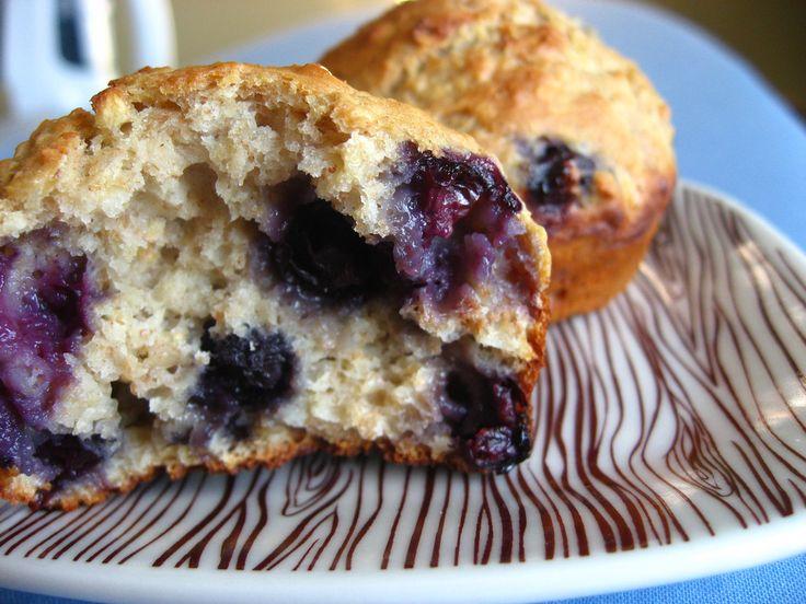 Bosbessen haver muffins