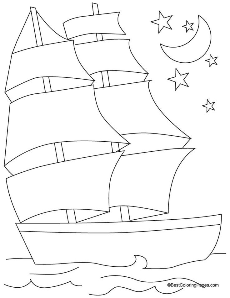Ship coloring page 4 | Download Free Ship coloring page 4 for kids | Best…
