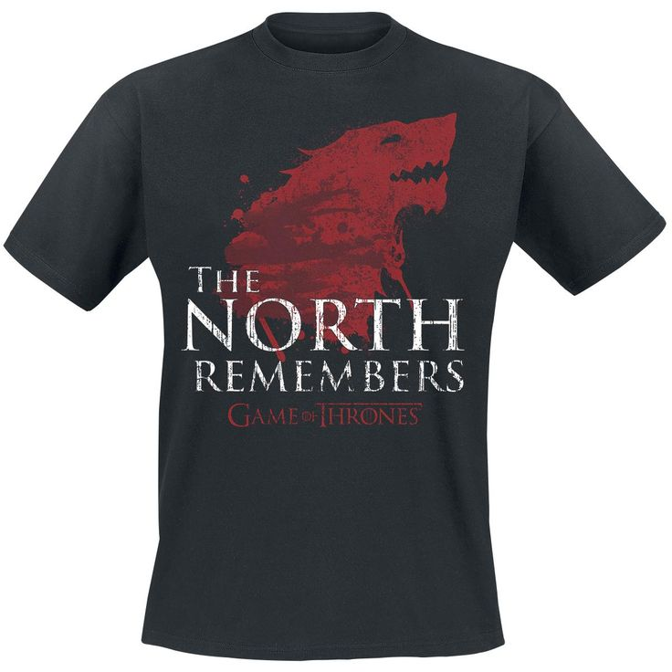 Game Of Thrones  T-Shirt  »The North Remembers« | Buy now at EMP | More Fan merch  T-shirts  available online ✓ Unbeatable prices!