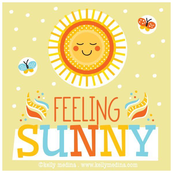 Feeling Sunny illustration by Kelly Medina