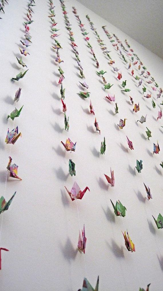 Wedding Backdrop Decoration Origami Paper Crane Garland