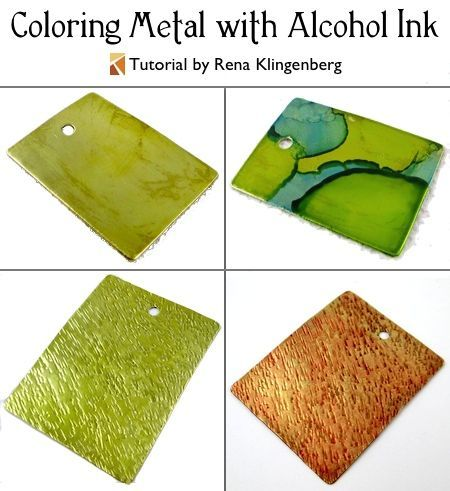 Coloring Metal with Alcohol Ink (Tutorial)