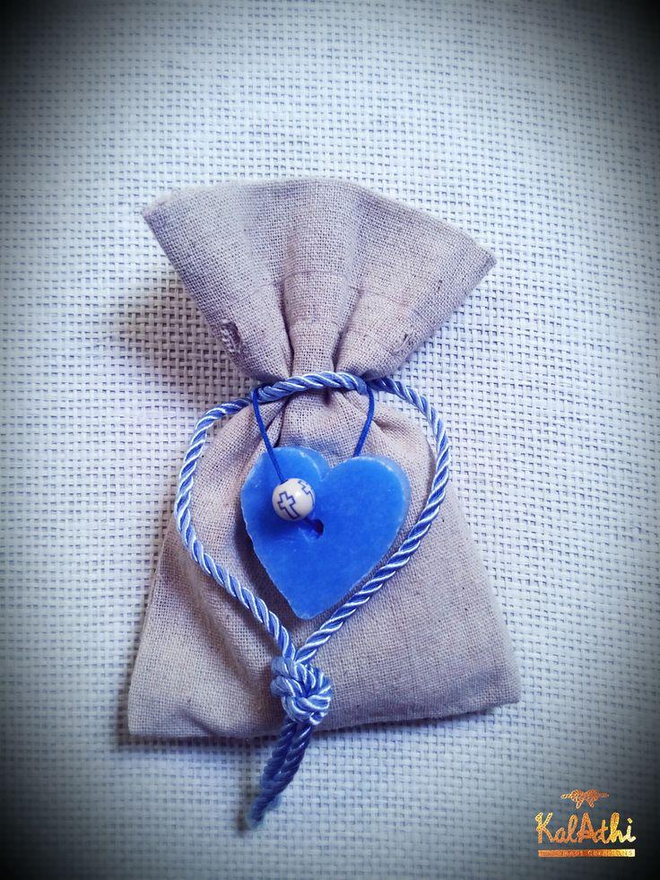 Heart soap and linen pouch by KalAthi photo © KalAthi