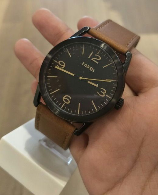 346a745d54c1  aff link  LEDGER THREE-HAND BROWN LEATHER WATCH. I bought this for my son  as a birthday gift. It fits great and looks great.