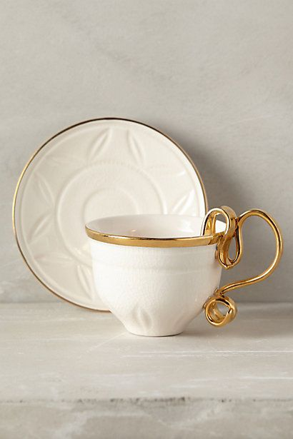 ariodante gold tea cup & saucer - such a classy Christmas gift #anthrofave