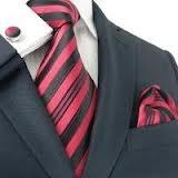 costume noir cravate et boutons manchettes rouges - Recherche Google