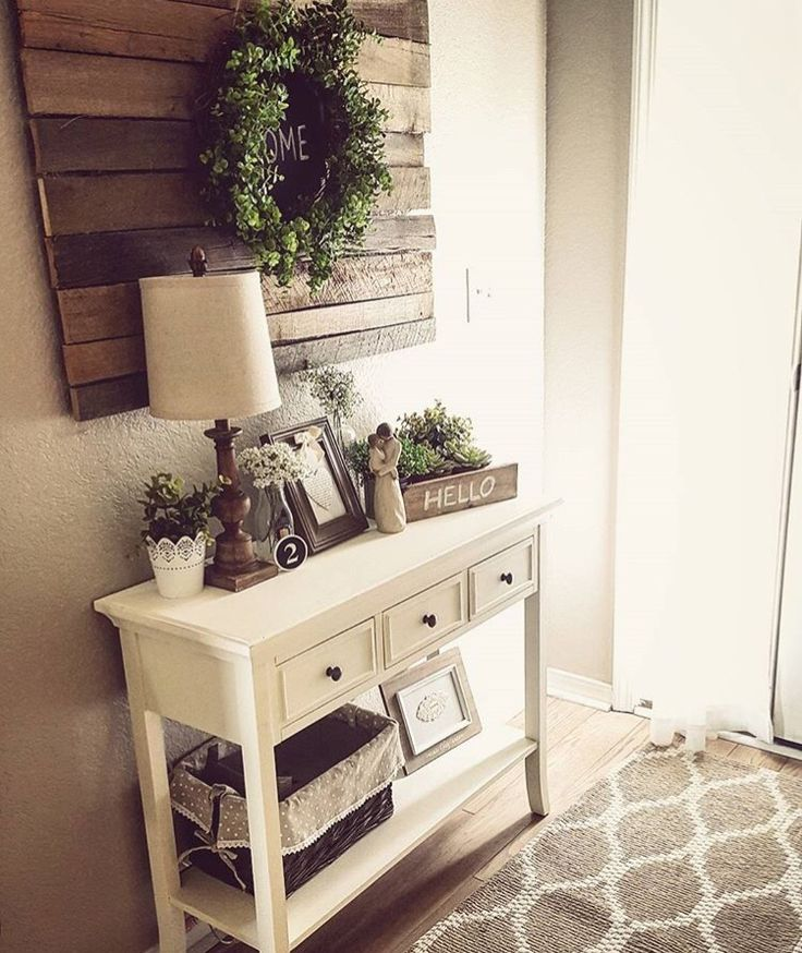 Farmhouse Chic Foyer : Best entry table decorations ideas on pinterest