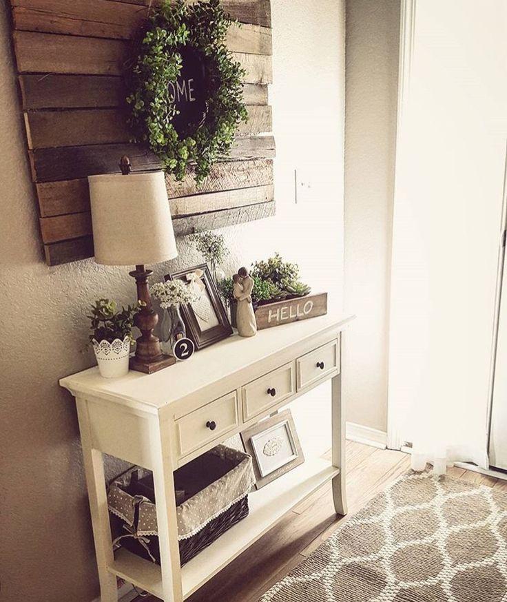 Hallway Farmhouse Decor: Best 25+ Entry Table Decorations Ideas On Pinterest