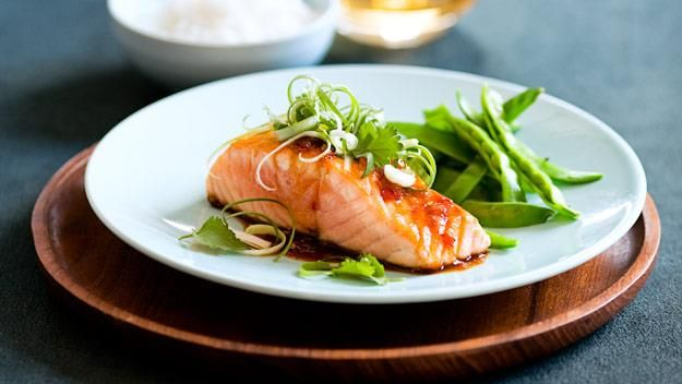 A fresh, light and tasty dinner that's full of goodness, salmon with teriyaki chilli sauce will become a go-to dinner.