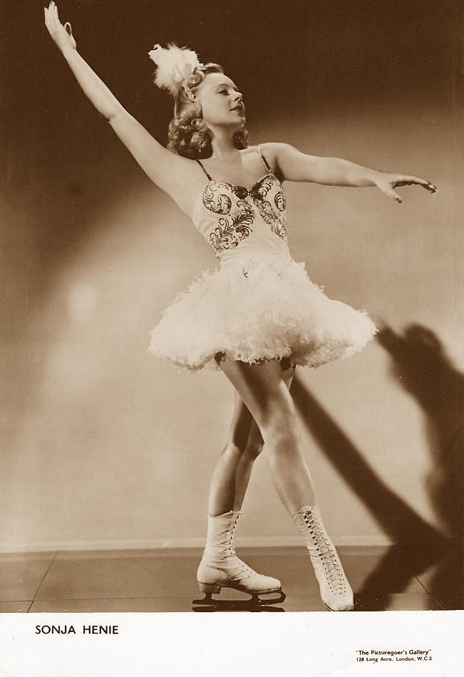 Sonja Henie, Ice Figure Skater and Movie Star (1912 - 1969). | Ice Skating | Pinterest