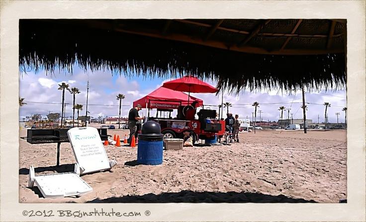 Teaching on Del Mar beach at USMC Camp Pendleton