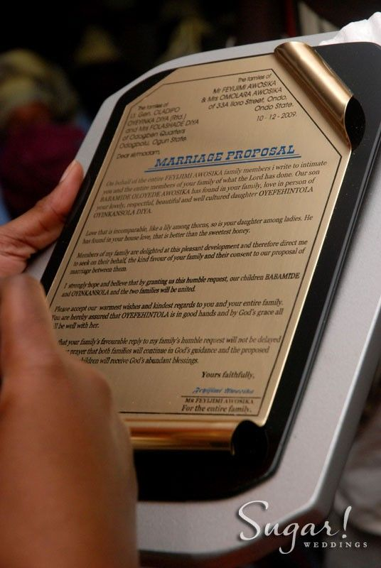 yoruba proposal acceptanceproposal acceptance lettersproposal letternaija engagementyoruba