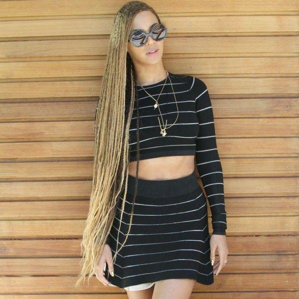 Beyonce's Knee-Length Box Braids