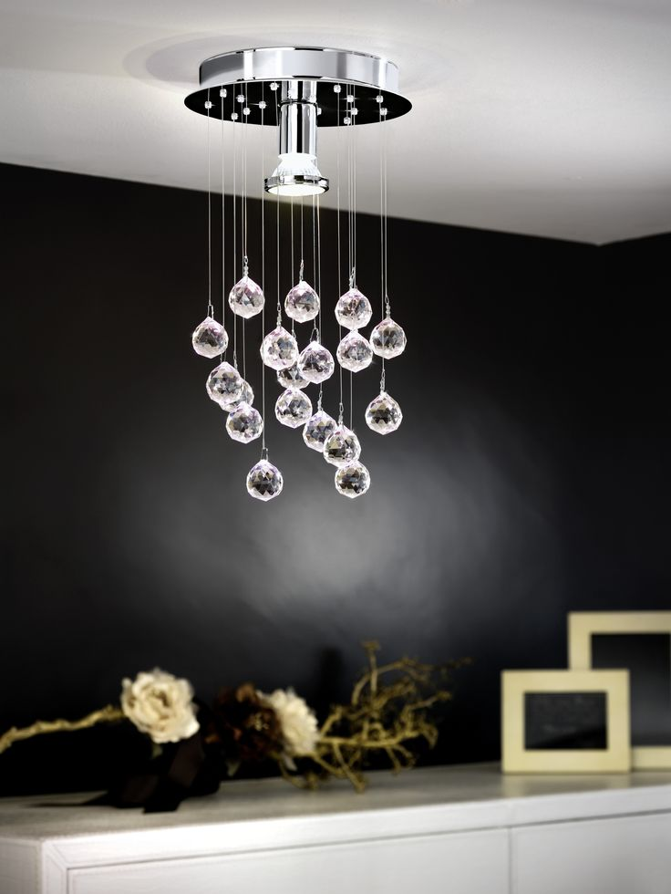 Eglo Lighting / Luxury / Faceted Crystal Spheres with Polished Chrome Finish