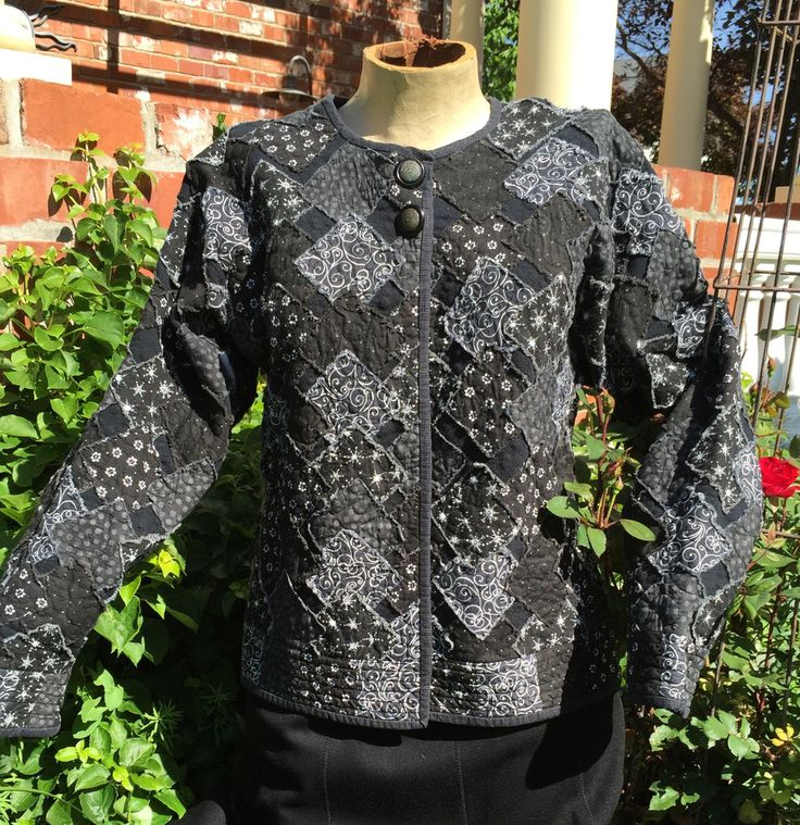 Pattern for all sizes Grab your old (or new) sweatshirt ~ add a some squares, add a little 'fit', add some binding, add a couple buttons and there you have it - a beautiful jacket. You will have to co